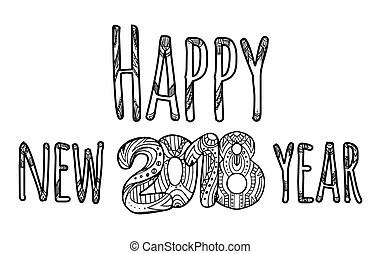 Inscription happy new year.