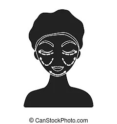 Forehead black and white simple line illustration eps
