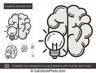Creative writing line icon. Creative writing vector line