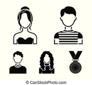 curly haired boy vector clipart