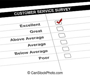 Business man customer service satisfaction form. Business