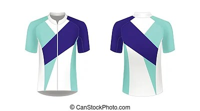 Cycling jersey mockup. Cycling jersey vector mockup. t ...