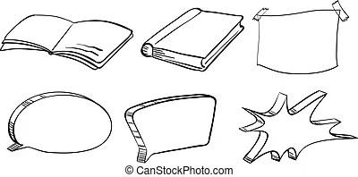 School materials. Illustration of the school materials on