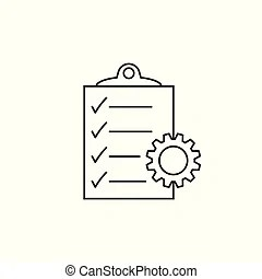 Project management icon. report document symbol