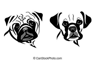 Dog portrait Vector Clipart Illustrations. 8,291 Dog