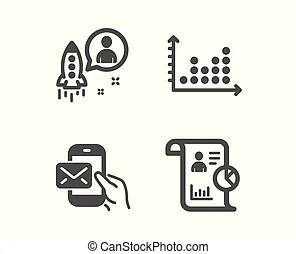 Message process work flow. Concept of business process and