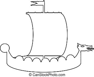 Pretty Viking Longship Template Images. Hands On Crafts