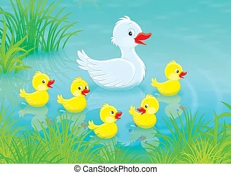 duck pond illustrations and clipart