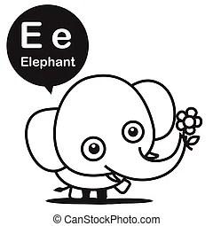 E-learning english language. Flat design vector