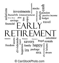 Retirement Word Cloud Concept with great terms such as