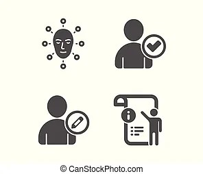Face biometrics Vector Clipart Royalty Free. 493 Face