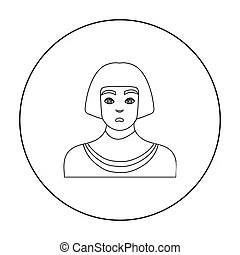 Ancient egyptian slave on a white background vector