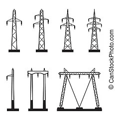 Electrical transmission tower types in perspective