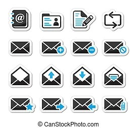 Mobile sms text message mail icons . Messaging, sending