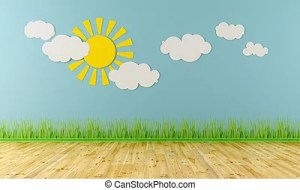 empty child clipart grass wall clouds sun playroom rendering purple interior 3d illustration canstockphoto illustrations children