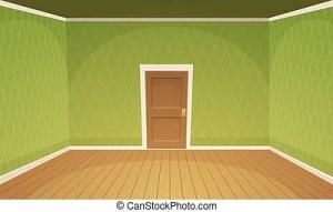 empty cartoon clipart kamer floor vuoto lege stanza leeres zimmer clip blank retro walls shutterstock vektor vectors verde groene gruen
