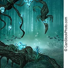 Enchanted forest Stock Illustration Images 1 057 Enchanted forest illustrations available to search from thousands of royalty free EPS vector clip art graphics image creators
