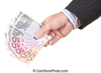 Euros In Mixed Money Notes Euros In Various