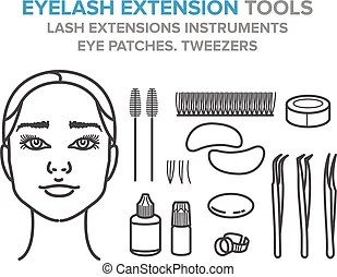 Eyelashes extension Illustrations and Stock Art. 672