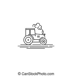 Outline country farm banner . Coloring page outline of