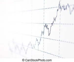 Financial accounting stock market graphs analysis.