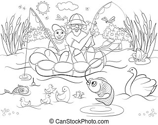 Duck pond Illustrations and Clipart. 754 Duck pond royalty