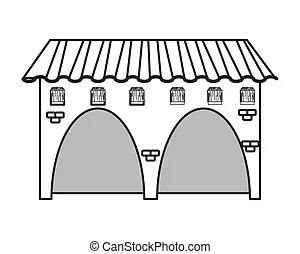 Spanish colonial house. Spanish colonial or mission