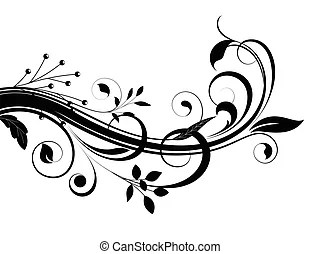 Swirl floral shape vector design. Abstract decorative