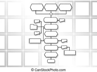 Flow chart programming process. Empty flow chart diagram