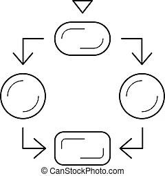 Flow diagram Stock Illustrations. 14,742 Flow diagram clip