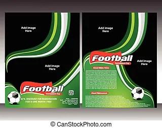 Football tournament flyer template. Football tournament flyer template.