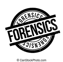 Forensics or forensic science as a concept drawings