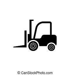 Forklift black. Vector illustration of an forklift icon.