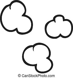 Retro scrolling black and white clouds with calligraphic