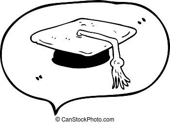 Illustration of a kid giving a graduation speech.