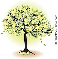 fruit tree clip art vector graphics