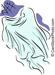 attic cobwebby spoken cliparts clip vector clipart fantasie ghost animaatjes illustrations darla illustrazioni fantasma soffitta ragni