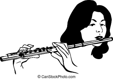 A sketch of the copper pipe musical instrument eps vector