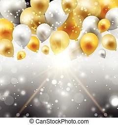 vector illustration of fancy gold