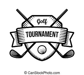 Golf tournament champion symbol represented by a white