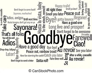Farewell Clip Art Vector Graphics. 774 Farewell EPS