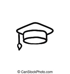Graduation objects sketch. Doodle style graduation or