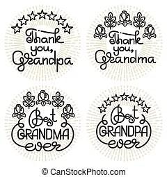 Grandma and grandpa watch tv, relax.