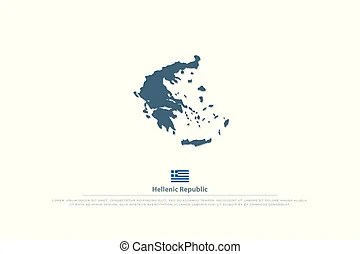 Greece political map. Hand drawn map of greece with the