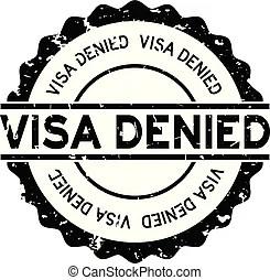 Passport application rejected. Passport application has