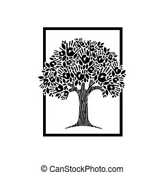 Concept design hand books tree. Global education concept