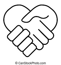 Partnership outline icon. Partnership, vector illustration