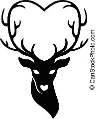 Download Head of deer with horns. Vector an illustration of head of ...
