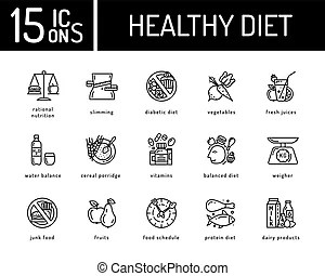 Healthy eating balanced diet concept, a large weight of
