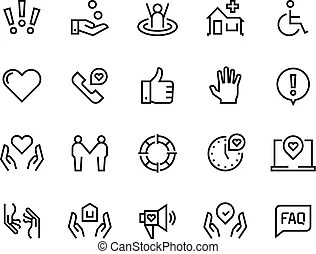 Family, health and community icons. Vector pictogram